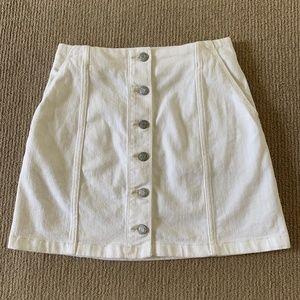 Aritzia Wilfred Ahrens White Denim Mini Skirt - 4